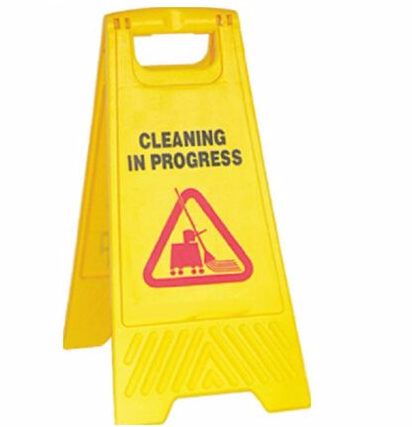 'Cleaning in Progress' A board Non-Branded