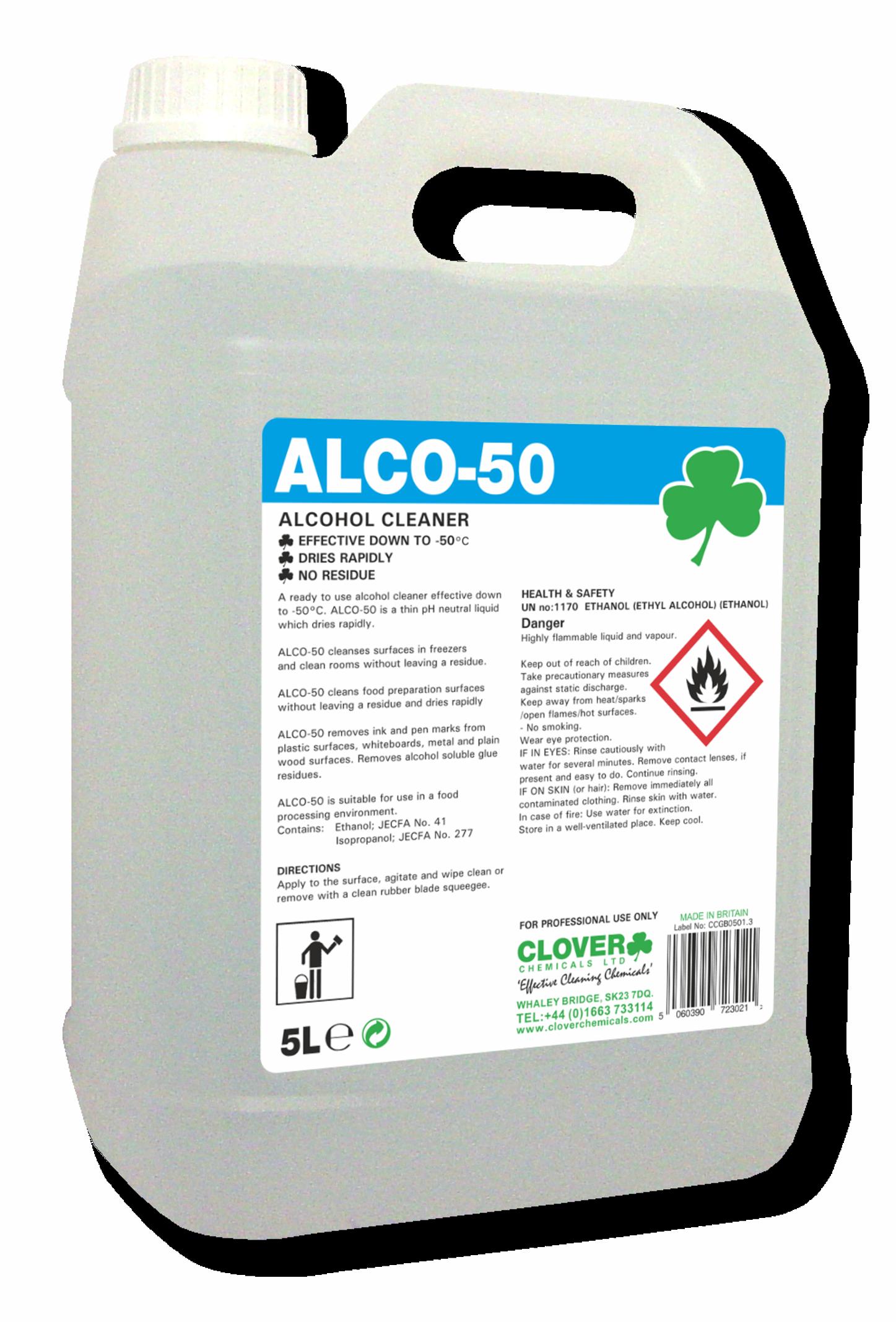 Clover Alco 50 Alcohol Cleaner