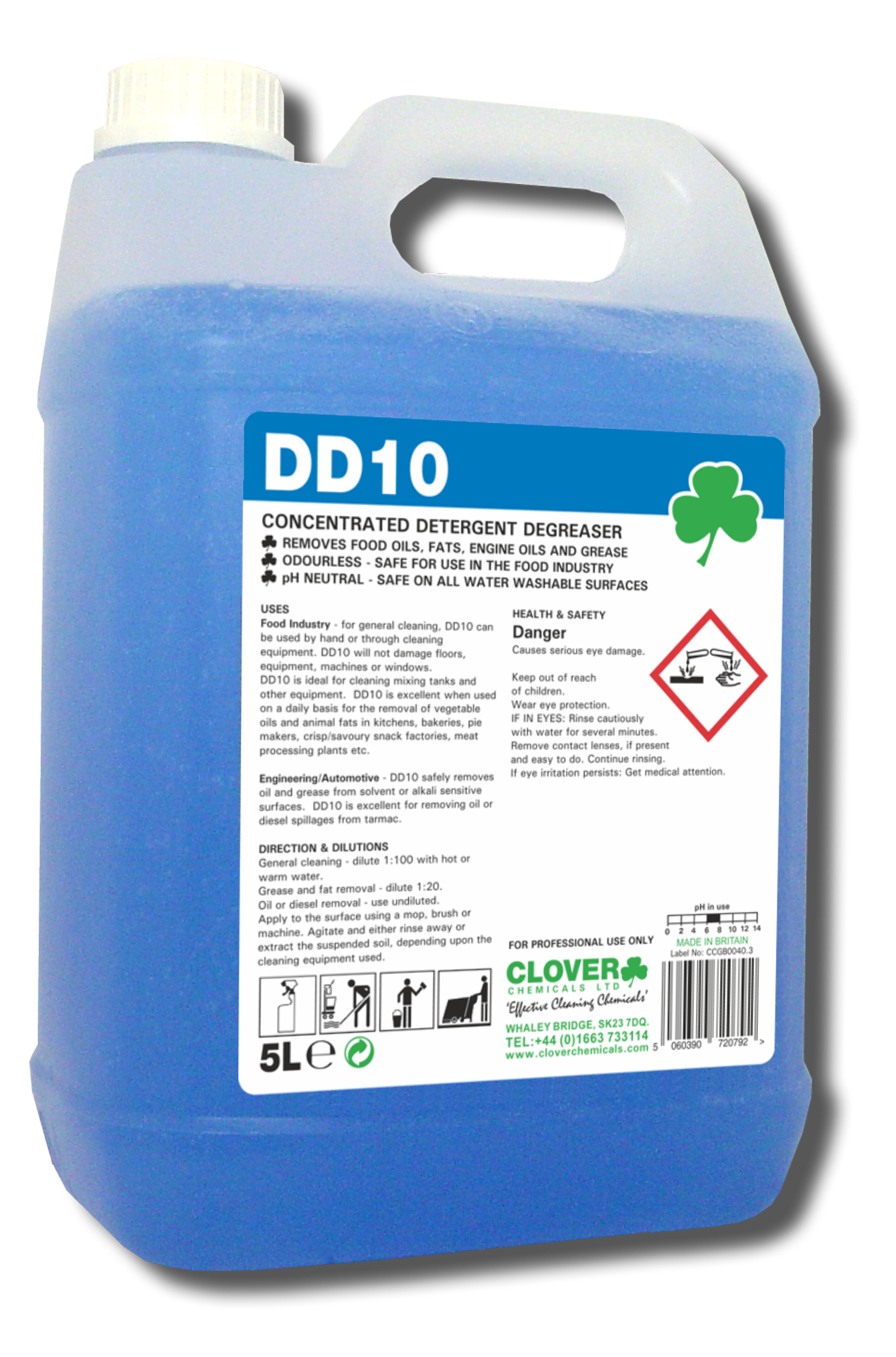 Clover DD10 - Concentrated Detergent Degreaser