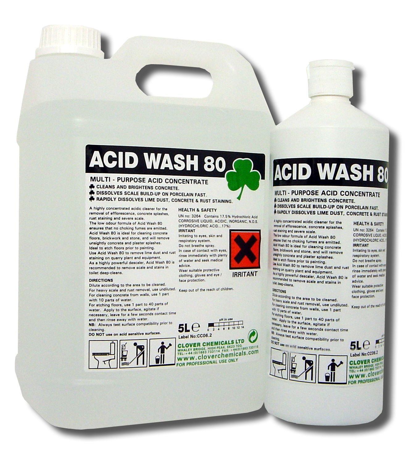 Clover ACID WASH 80 Extra Strength Acidic Toilet Descaler