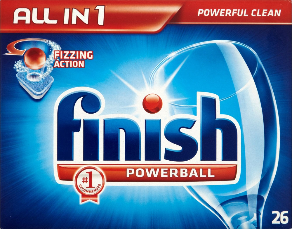 Highlights for Finish Dishwasher Detergent. Hate those greasy spots and watermarks on your dishes after they run through the dishwasher? Get your dishes crystal clear and shinning bright like a diamond every time with Finish.