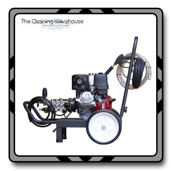 Honda Powered Trolley Mounted Pressure Washer 15Lpm 200Bar With Geared  Interpump