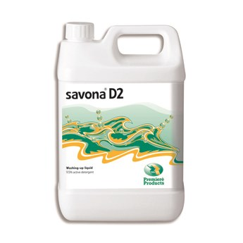 Premiere Savona D2 washing up liquid 5ltr